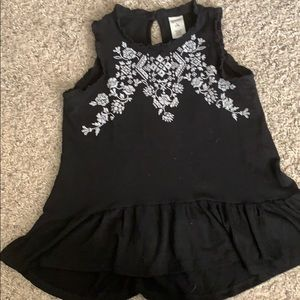Girls Arizona brand size 7/8 black blouse